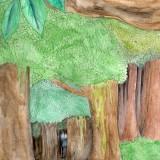 Hérobrine dans la forêt