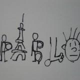 12. Pablo en lettres dessins