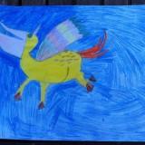 Adèle 14122005 - Pélicorne on peut le monter pour s'envoler et manger du poisson en même temps, pratique