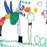 Gaspard 03112009 -  ∂ne avec des grandes dents, des ailes et une corne de licorne