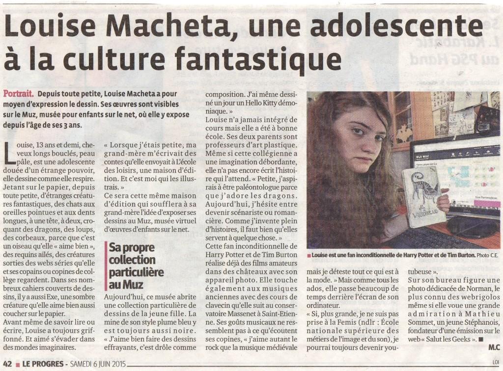 Louise Machéta Le Progrès