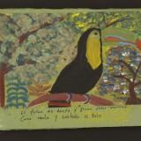 Série des toucans, 24 acryliques sur papier, 24cm x 18cm