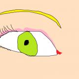 35 l'oeil de la belle jeune fille