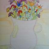 Vase de fleurs -Aquarelle 052016