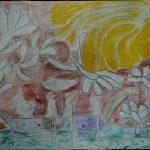 les oiseaux se posent sur la mer pour dire au soleil qu'il y a dans la mer un grand trésor - nicolas 5 ans 9 mois (HAUTMONT)