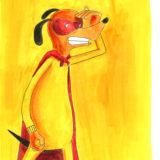le chien masqué