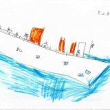 2 - panique à bord le bateau tangue sur l'eau