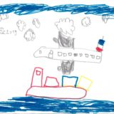 7 - L'avion survole la mer