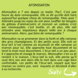 Afonssafon par Gaëlle