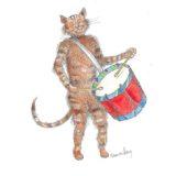 Chat au tambour