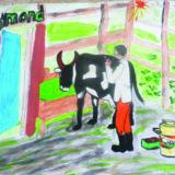 AfRwAmmon voisin est veterinaire il soigne les vachesTravail