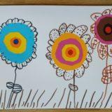 10 - Les fleurs. Découpage, collage et dessin