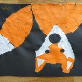 7 -Le renard. Collage