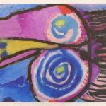 Masque bleu et violet 35,5x53,5