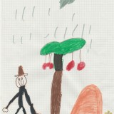 arbre de la campagne, émile, 5ans