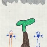un arbre, william, 5ans