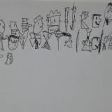 14. L'alphabet en lettres têtes