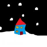 18 la maison de la fée bleue en plein hiver