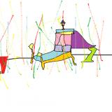 09 l'anniversaire de la princesse dans sa chambre pleine de confettis