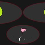 Le chat dÇguiser en fantome-noire