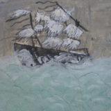 bateau de Robinson dans la tempete