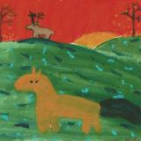 AmArValmora lamas10Ciervos y caballosCerf et chevauxTerre (6) - Copie