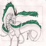 Dragon gris et vert web