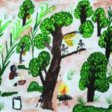 AsInHoMonvillageHoney gathering in the forest by Arjun - 9 dec198