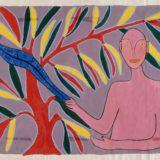 Sans titre, Ecole de Pitoa, Cameroun, 1957, collection Freinet, gouache sur papier, 47x59.5 cm, Musée d'arts de Nantes
