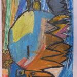 Monstre oiseau 60,5x48,5